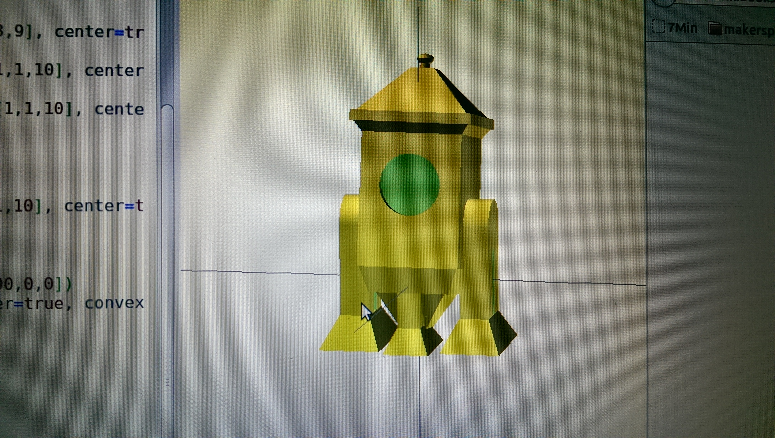 Screen shot from OpenSCAD
